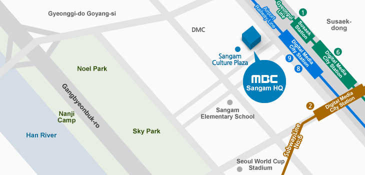 Directions to MBC New Building in Sangam-dong